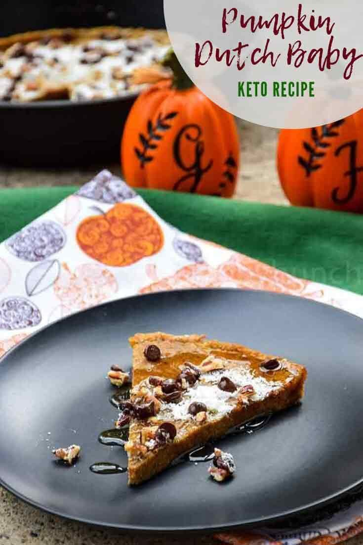 Ketop Pumpkin Dutch Baby #keto #pumpkin #pancake #skilletrecipe #pumpkinspice