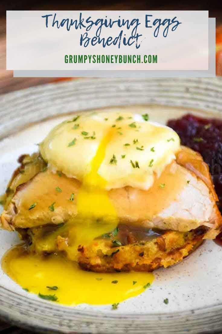 Thanksgiving Eggs Benedict #thanksgiving #turkey #leftovers #holiday #recipeoftheday