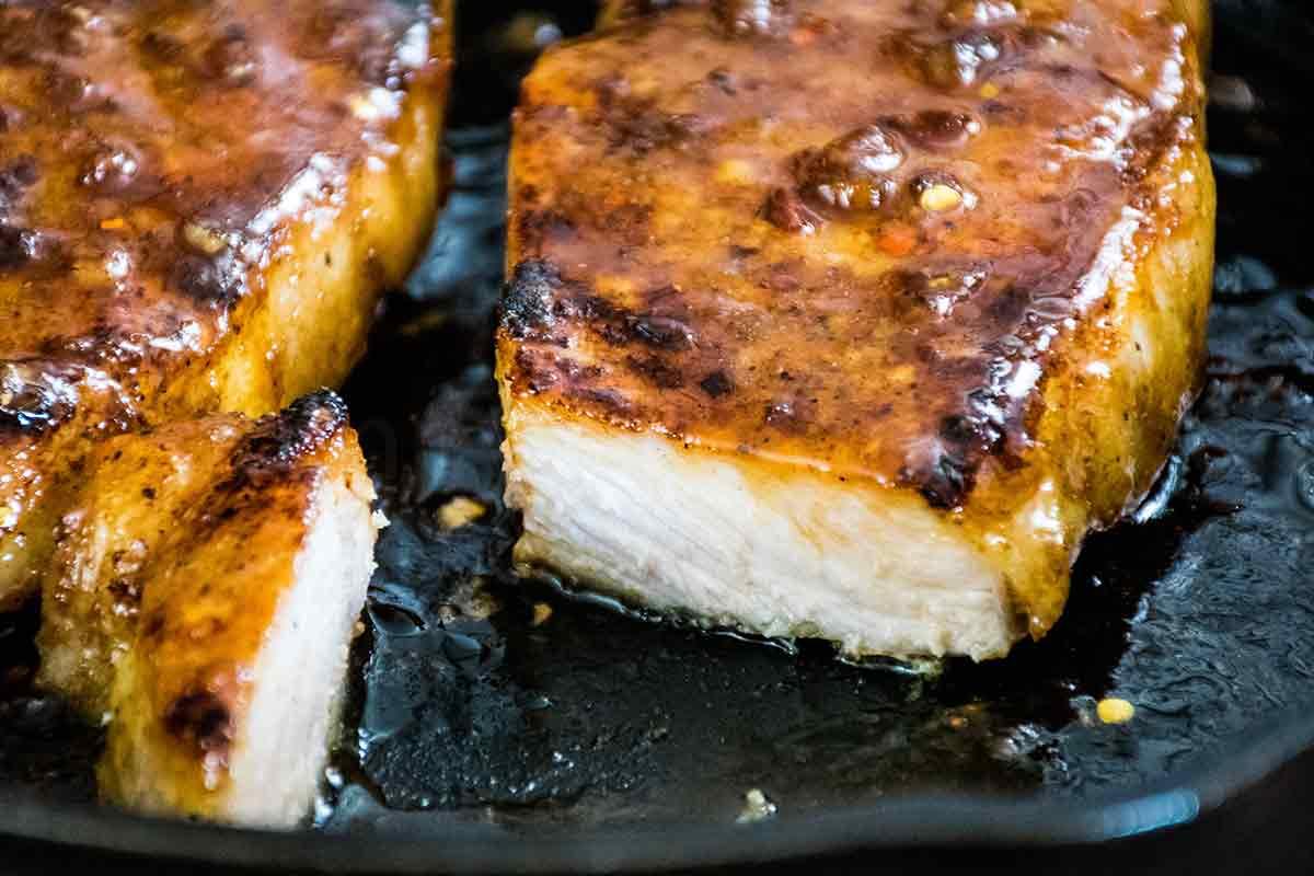 Honey Garlic Pork Chops Skillet Recipe For Two Grumpy