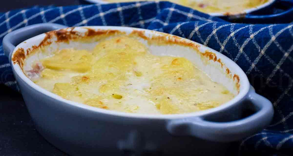 Scalloped Potatoes for Two – with leftover ham