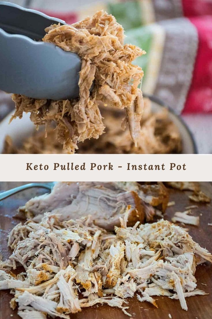 Keto Pulled Pork made in the Instant Pot! #keto #lowcarb #pulledpork #instantpot #recipeoftheday