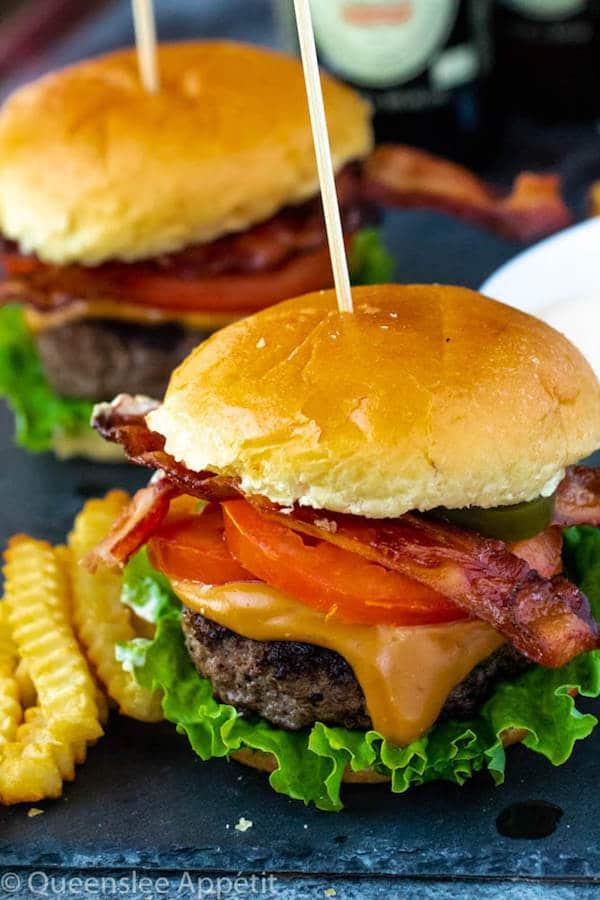 Beer Burgers with Beer Cheese Sauce ~ Recipe