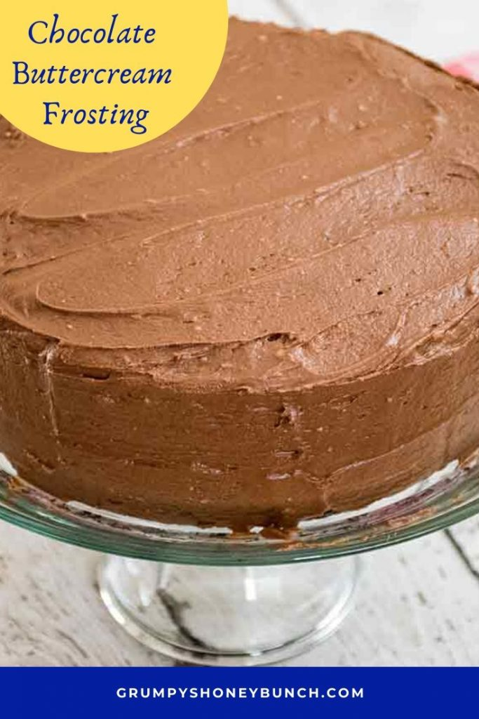 Pinnable Image Chocolate Buttercream Frosting
