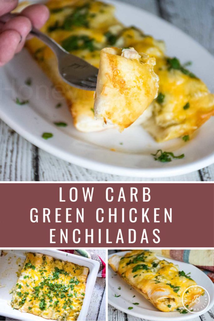 green chicken enchilada pinnable image