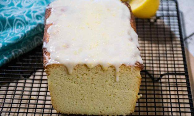 Keto Lemon Pound Cake with Lemon Icing
