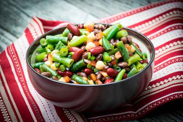 4 Bean Salad with Cilantro Lime Dressing